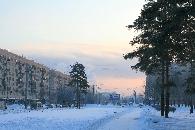 Вид из лесопарка -Сосновая поляна- вдоль проспекта Ветеранов в сторону ул.Пограничника Гарькавого
